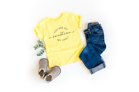 You Are My Sunshine Kids Tee - HoMade Studio