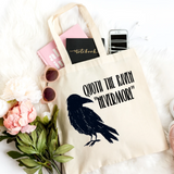 The Raven Canvas Tote Bag - HoMade Studio