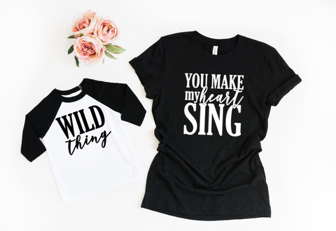 Mommy & Me Shirt Set - Black - HoMade Studio