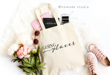 Going Places Canvas Tote - HoMade Studio