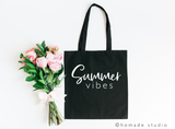 Summer Vibes Canvas Tote - HoMade Studio