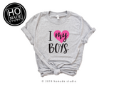 I Love My Boys | Women's Graphic T-Shirt - HoMade Studio