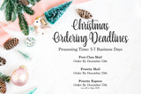 christmas ordering deadlines
