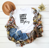 Flannels, Boots & Pumpkin Spice Everything | Women's Fall Tee - HoMade Studio