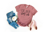 Cat Hair Don't Care Shirt, Gift for Cat Lover