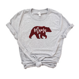 Mama Bear Christmas Shirt For Women, Buffalo Plaid