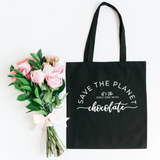 Save The Planet It's The Only One With Chocolate Canvas Tote Bag - HoMade Studio
