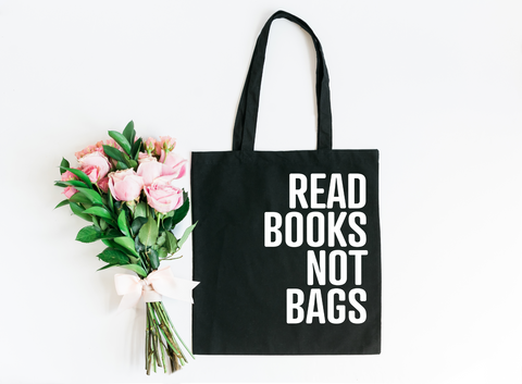Read Books Not Bags Canvas Tote Bag - HoMade Studio