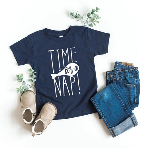Time For a Nap Kids Thanksgiving Shirt - HoMade Studio