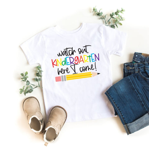 Watch Out Kindergarten Here I Come Kid's T-Shirt - HoMade Studio