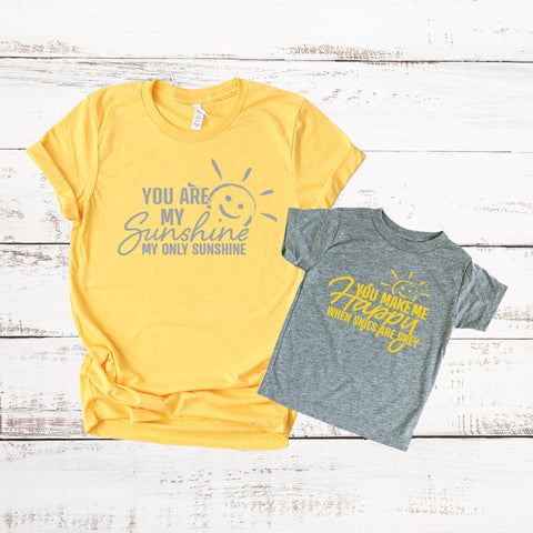 You Are My Sunshine Matching Mommy and Me Shirt Set