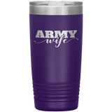 Army Wife 20 Ounce Vacuum Tumbler