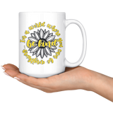 In A World Where You Can Be Anything Be Kind Sunflower Coffee Mug