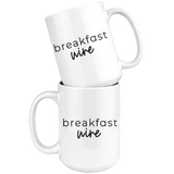 Breakfast Wine Coffee Mug - HoMade Studio