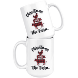 Christmas On The Farm Farmhouse Coffee Mug - HoMade Studio