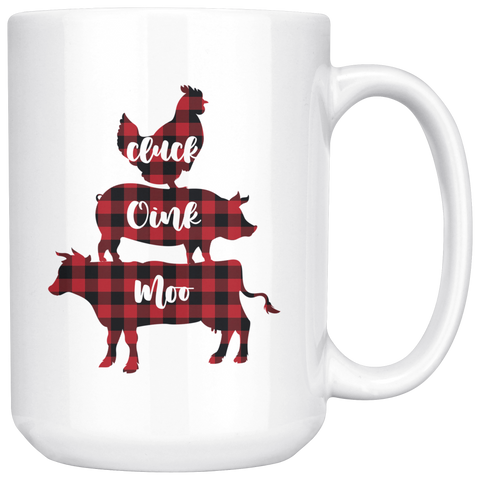 Cluck Oink Moo Farmhouse Coffee Mug