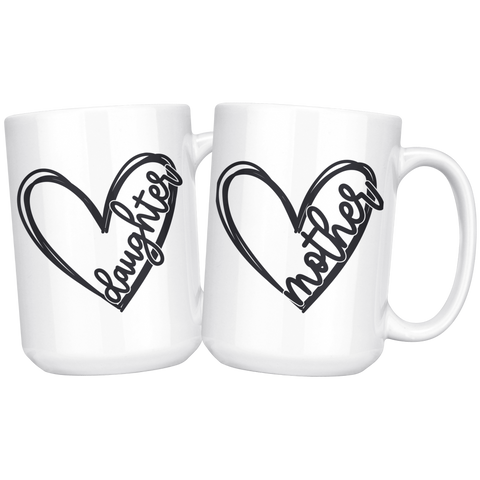 Mother Daughter Coffee Mug Set