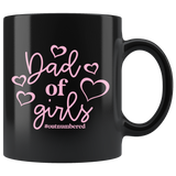 Dad of Girls (Outnumbered) Black Coffee Mug - HoMade Studio