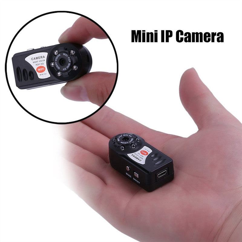Mini Q7 WIFI P2P Surveillance Spy Remote Camera DVR for iPhone Android  Night Vision Hidden Camera DVR Wireless IP Camera Hidden Camcorder Video