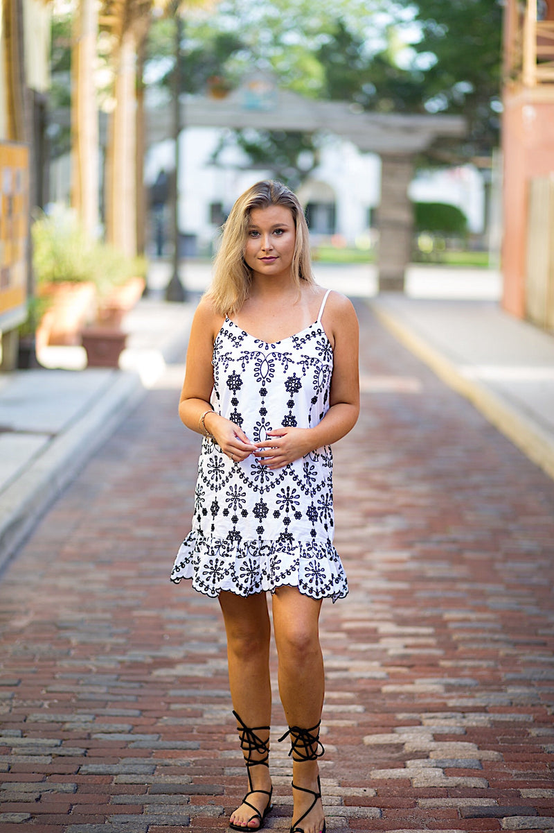 Kacie Embroidered Dress