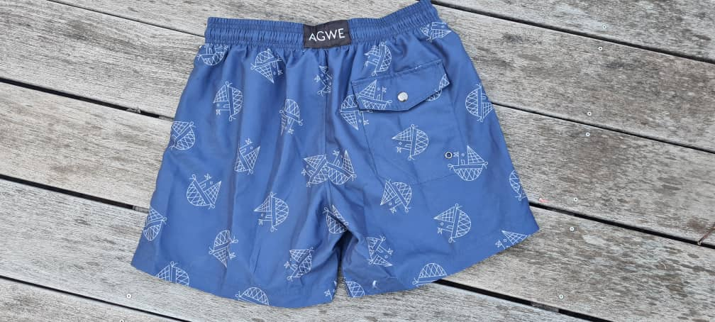Dark Blue Swim Trunks