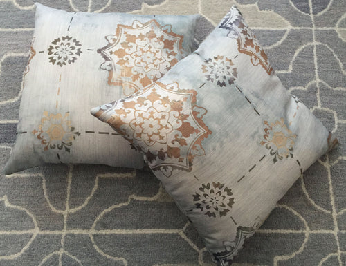 Bohemian-style Accent Pillow with Dye Effect 16