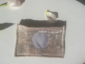 Small Day Pouch - Lavender Cloud with Circle