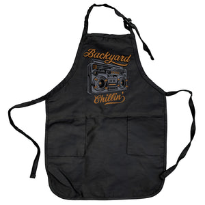 Backyard Chillin' Boombox Apron