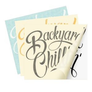 3pack Backyard Chillin' Decals