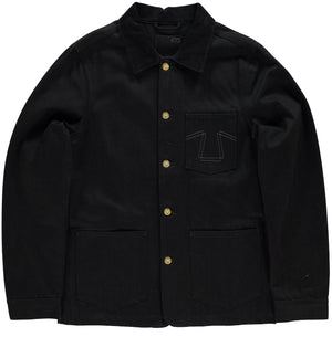 Chore Jacket 673 Black Denim-front view