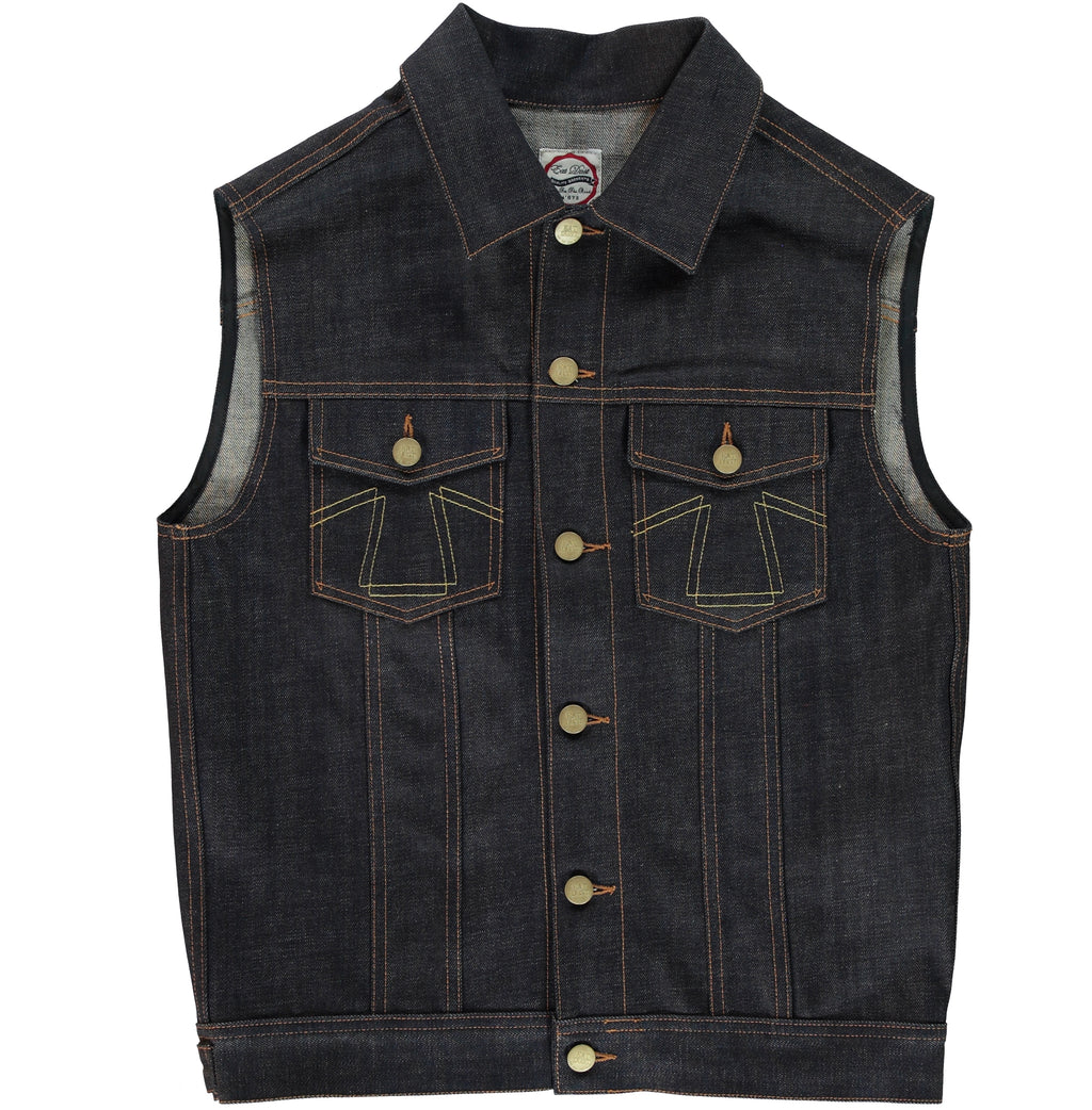 Sleeveless Jacket Denim