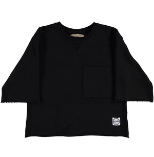 G.o.D Cutt Off Sweater Black-front view