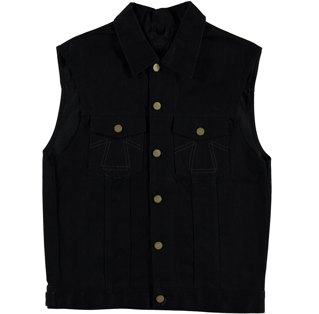 Sleeveless Jacket Black Denim