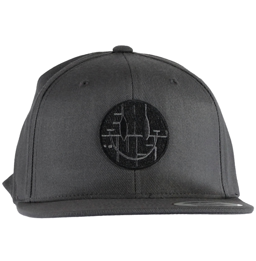 X Snapback  Cap Smiley Grey
