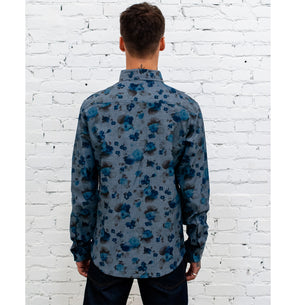 Combat Shirt Faded Flowers-fit view back
