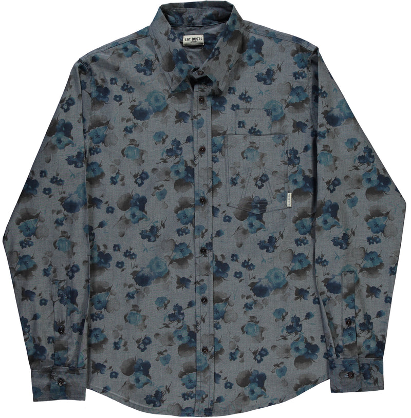 Combat Shirt Faded Flowers-front view