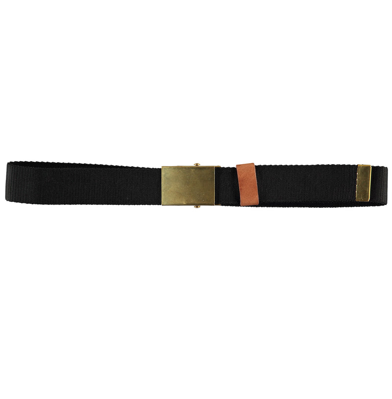 G.o.D Army Belt Canvas Black-front view