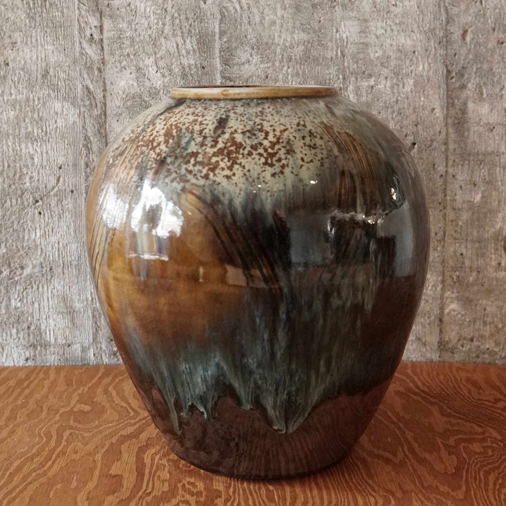 large vase spotted glazing #5