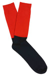 Escuyer socks -  Colour Block Molten Lava / Deep Well
