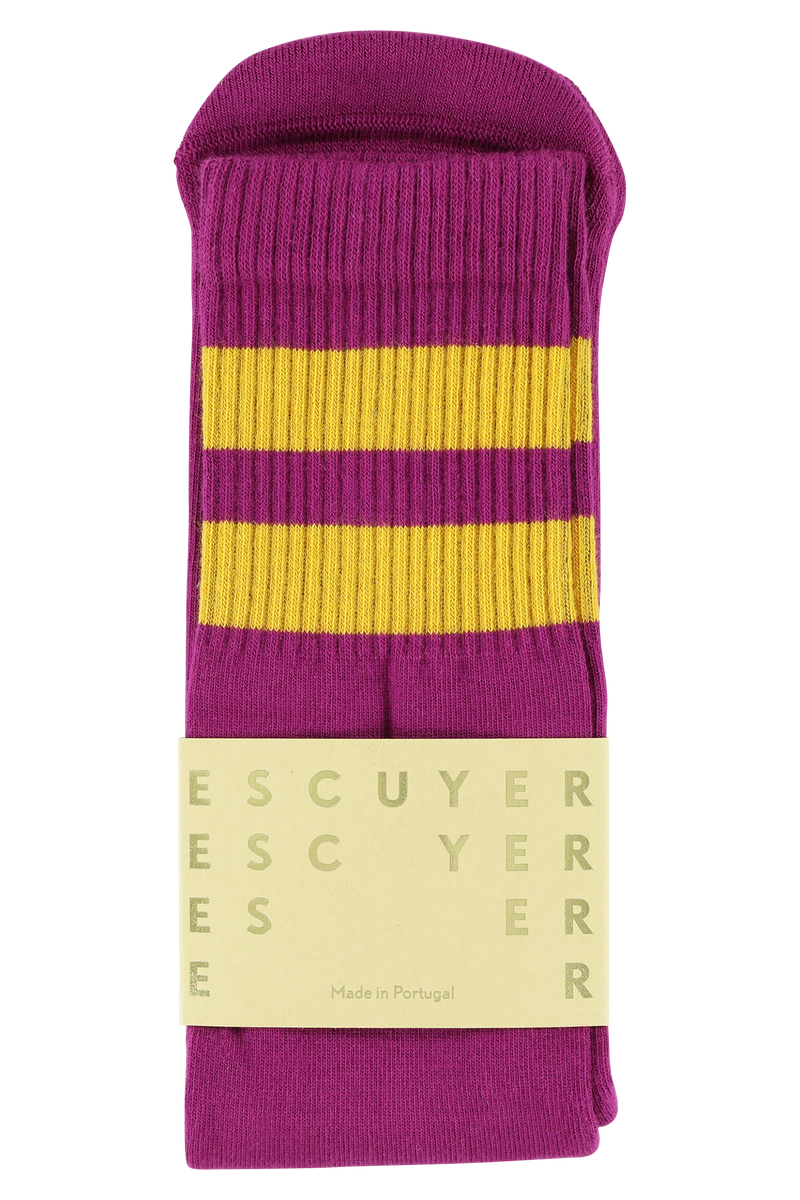 Escuyer Tube socks - Magenta Purple / Golden Glow