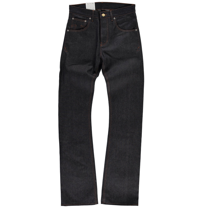 BootCut Broken Twill Denim L34 in indigo - front view