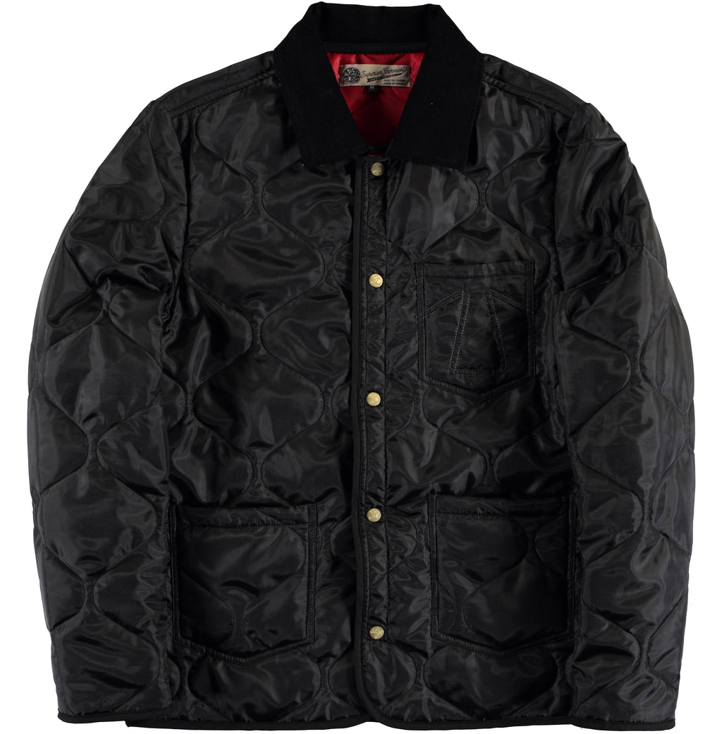 Chore Liner Jacket 673 Black Nylon-front view