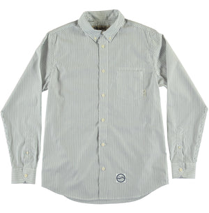 G.o.D Button Down Wallstreet Stripe-front view