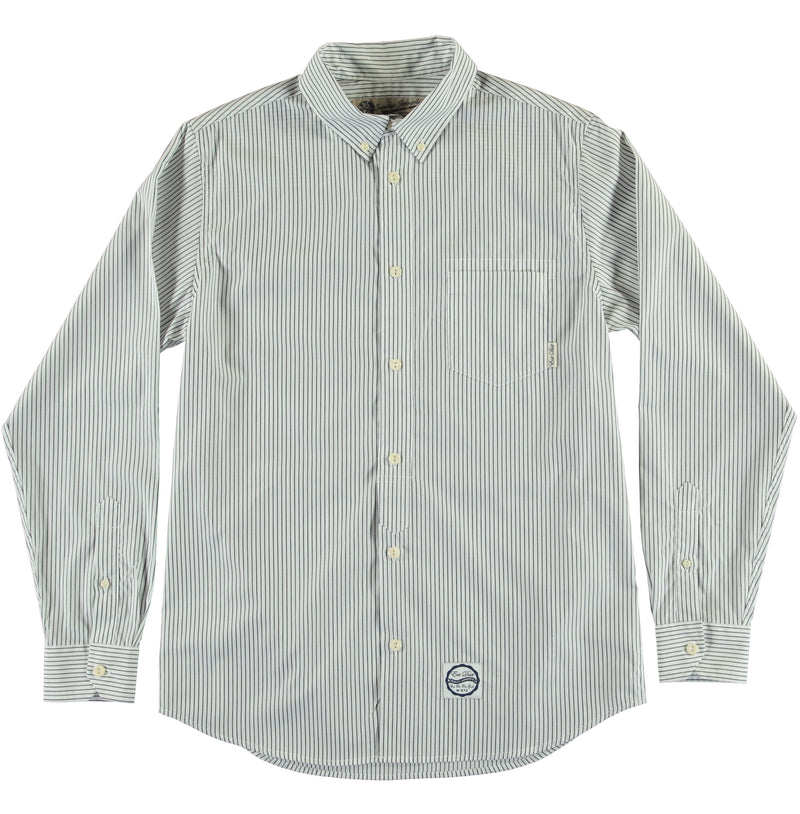 G.o.D Button Down Wallstreet Stripe