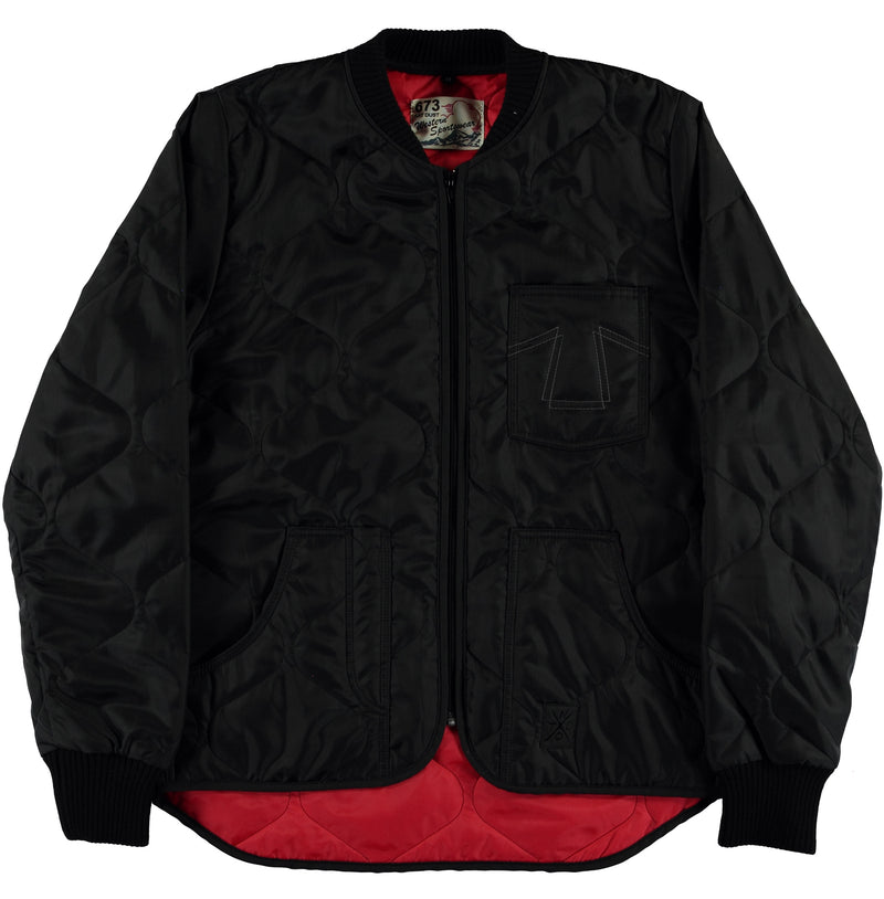 Frostbite Jacket Black Nylon-front view