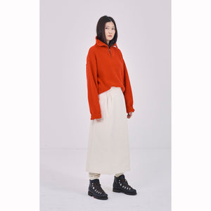 G.o.D Worker Skirt Long Bull Denim Natural
