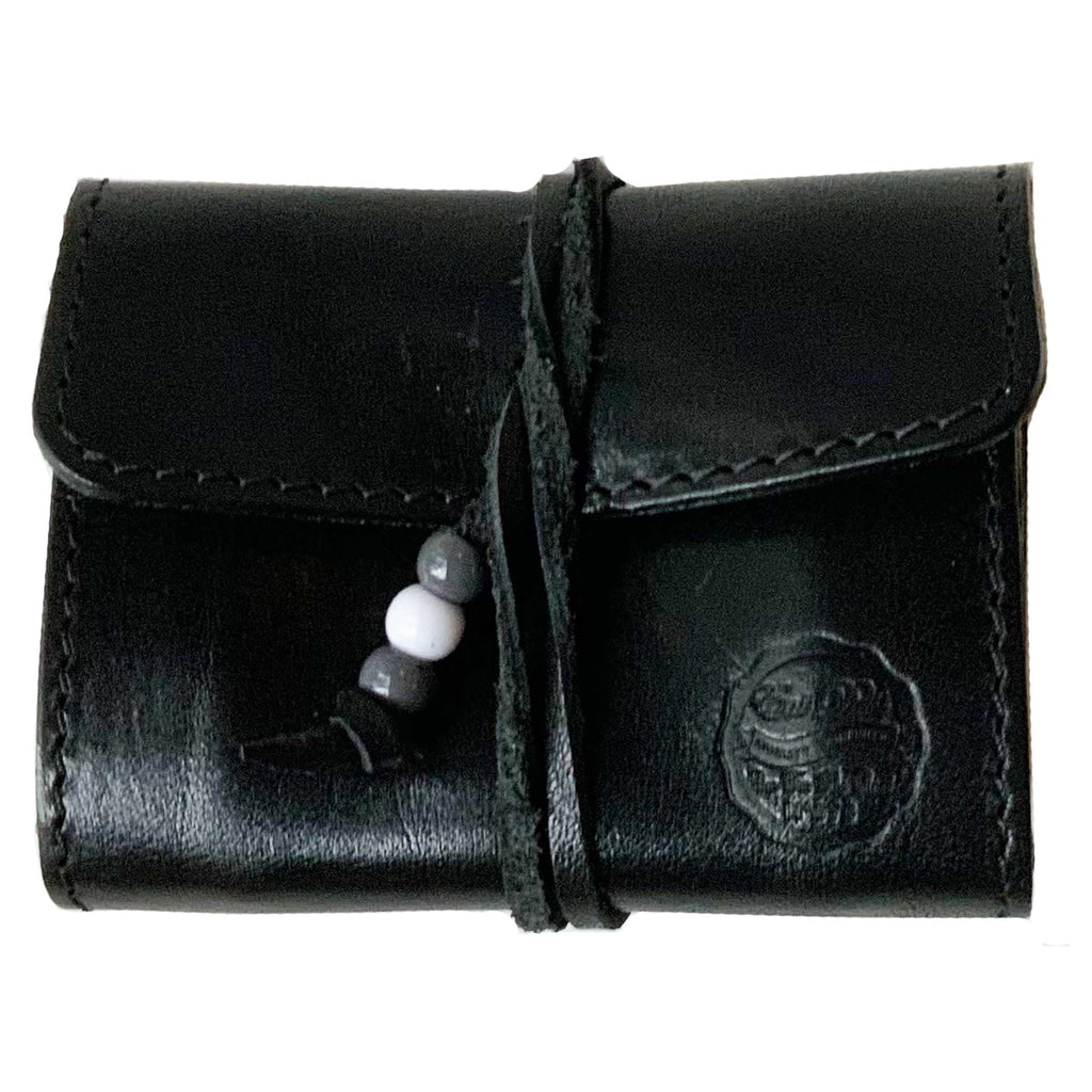 X Stach Pouch Leather Black