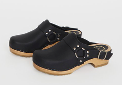 N0°6 Brando Clog on Vintage Base in Black
