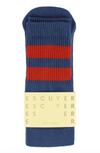 Escuyer Tube socks - Blue Wing Teal/ Gold Flame