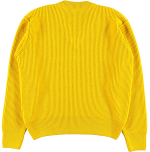 G.o.D V Neck Knitwear Lemon-back view